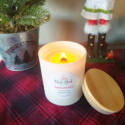 Hand Poured Eco Friendly Soy Wax Candle With Woodwick, Choose Your Scent