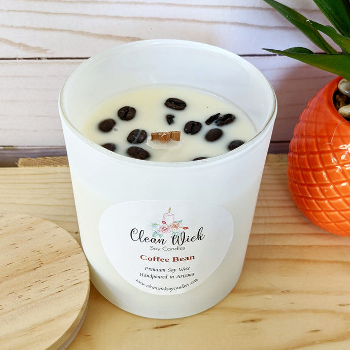 Coffee Bean Soy Candle, Soy Woodwick Candle, Non Toxic Candles, Handpoured Soy Candles, Coffee Soy Candle