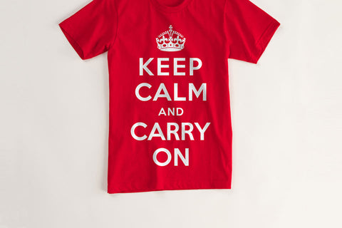 Keep Calm and Carry On Vintage T Shirt