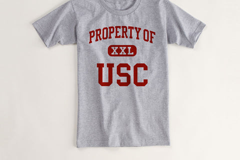 Process of USC Vintage T Shirt
