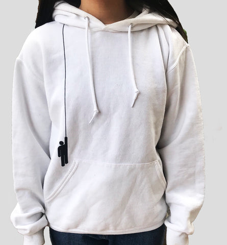 White Billie Eilish Long Hang Hoodie