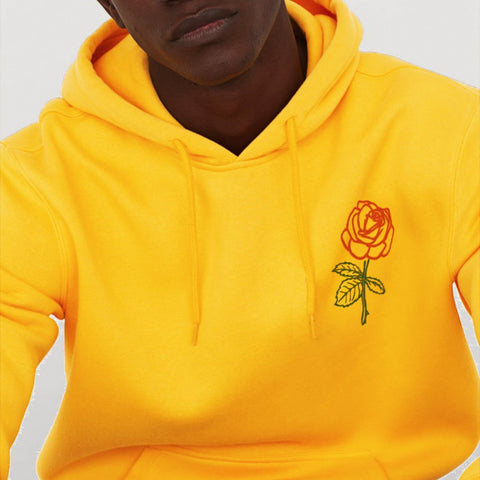Island Rose Yellow Hoodie or T-Shirt