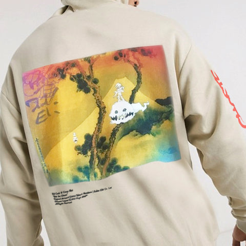 Kids See Ghosts Beige Hoodie - Kid Cudi x Kanye West x Murakami