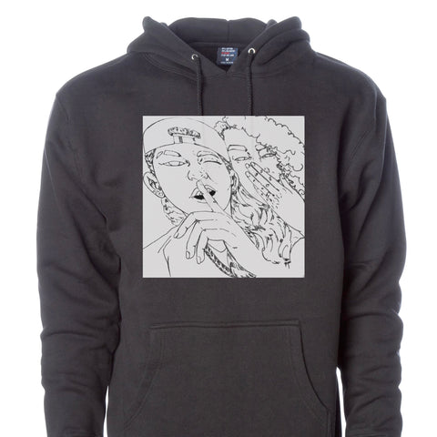 Jessi Custom Sketch Fleece Hoodie