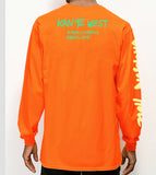 Jackson Hole Wyoming Long Sleeve Tee Orange, Black, White