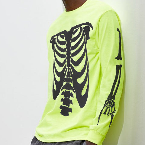 Neon Green Playboi Carti Die Lit Skeleton Long Sleeve