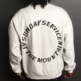 Kanye West Sunday Service At The Mountain Sweatshirt w/ Neck Tag