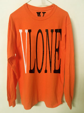 VLONE Orange and White Shirt