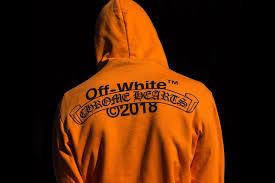 Off White x Chrome Hearts Orange Hoodie
