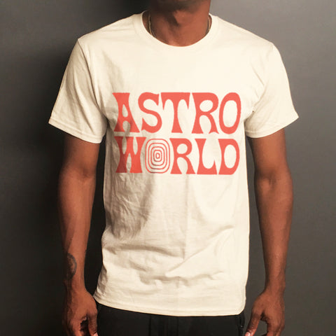 Beige Out of This World Travis Scott Tee
