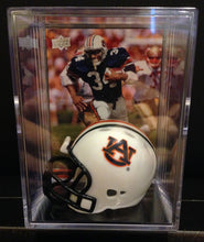 Load image into Gallery viewer, Auburn Tigers NCAA mini helmet shadowbox w/ player card - Super Fan Cave