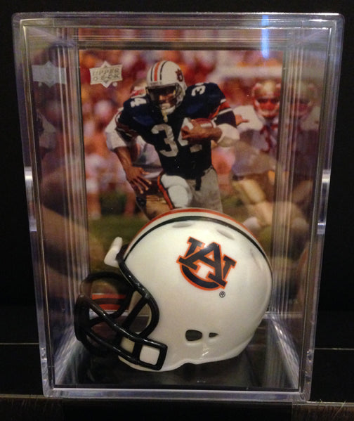 Auburn Tigers NCAA mini helmet shadowbox w/ player card - Super Fan Cave