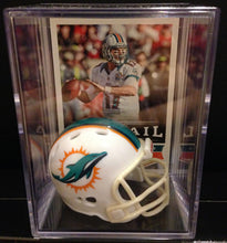 Load image into Gallery viewer, Miami Dolphins NFL mini helmet shadowbox w/ player card - Super Fan Cave