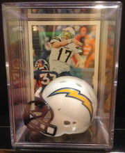 Load image into Gallery viewer, Los Angeles Chargers NFL mini helmet shadowbox w/ player card - Super Fan Cave