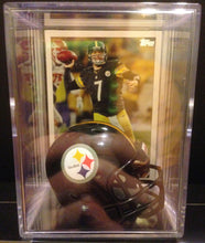 Load image into Gallery viewer, Pittsburgh Steelers NFL mini helmet shadowbox w/ player card - Super Fan Cave
