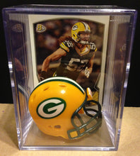 Load image into Gallery viewer, Green Bay Packers NFL mini helmet shadowbox w/ player card - Super Fan Cave