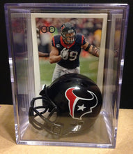 Load image into Gallery viewer, Houston Texans NFL mini helmet shadowbox w/ player card - Super Fan Cave