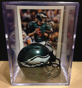 Philadelphia Eagles NFL mini helmet shadowbox w/ player card - Super Fan Cave