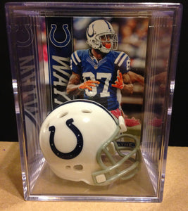 Indianapolis Colts NFL mini helmet shadowbox w/ player card