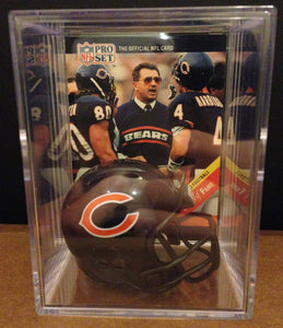 Chicago Bears mini helmet shadowbox w/ player card - Super Fan Cave