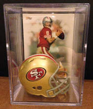 Load image into Gallery viewer, San Francisco 49ers NFL mini helmet shadowbox w/ player card - Super Fan Cave