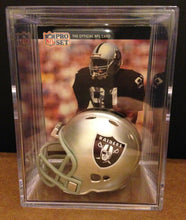 Load image into Gallery viewer, Oakland Raiders NFL mini helmet shadowbox w/ player card - Super Fan Cave