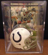 Load image into Gallery viewer, Indianapolis Colts NFL mini helmet shadowbox w/ player card