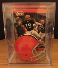 Load image into Gallery viewer, Cleveland Browns mini helmet shadowbox w/ player card - Super Fan Cave