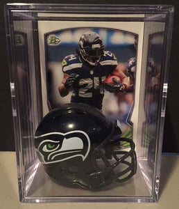 Seattle Seahawks NFL mini helmet shadowbox w/ player card - Super Fan Cave