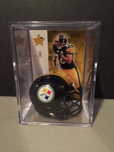 Pittsburgh Steelers NFL mini helmet shadowbox w/ player card