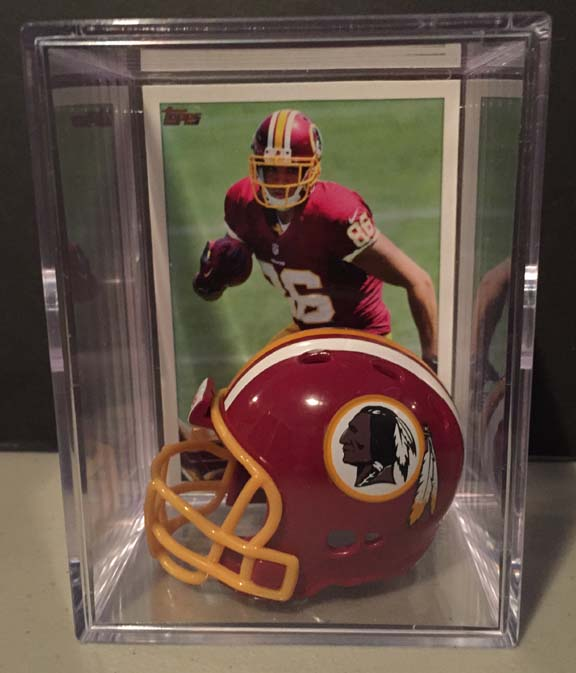 Washington Redskins NFL mini helmet shadowbox w/ player card - Super Fan Cave