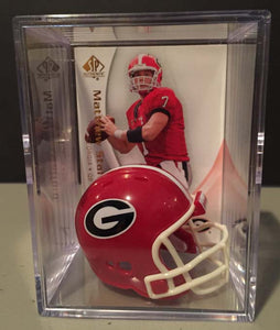 Georgia Bulldogs NCAA mini helmet shadowbox w/ player card - Super Fan Cave