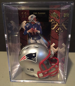 New England Patriots NFL mini helmet shadowbox w/ card - Super Fan Cave