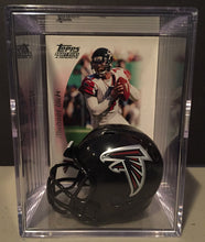 Load image into Gallery viewer, Atlanta Falcons mini helmet shadowbox w/ player card - Super Fan Cave