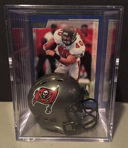 Tampa Bay Buccaneers NFL mini helmet shadowbox w/ player card - Super Fan Cave