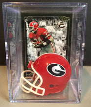Load image into Gallery viewer, Georgia Bulldogs NCAA mini helmet shadowbox w/ player card - Super Fan Cave