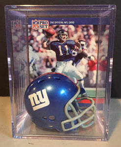 New York Giants NFL mini helmet shadowbox w/ player card - Super Fan Cave