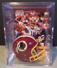 Load image into Gallery viewer, Washington Redskins NFL mini helmet shadowbox w/ player card - Super Fan Cave