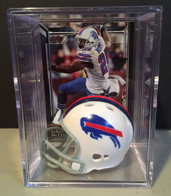 Buffalo Bills mini helmet shadowbox w/ player card - Super Fan Cave