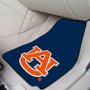 NCAA College Team Logo 2-piece Carpet Car Mat Set - Super Fan Cave