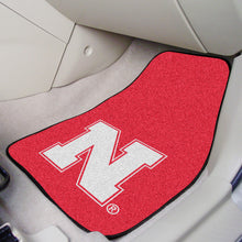 Load image into Gallery viewer, NCAA College Team Logo 2-piece Carpet Car Mat Set - Super Fan Cave