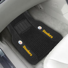 "Load image into Gallery viewer, NFL Team Logo Deluxe 2-Piece Car Mat 21""x27"" - Super Fan Cave"
