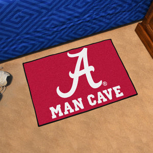 NCAA College Team Logo Man Cave Starter Mat - Super Fan Cave