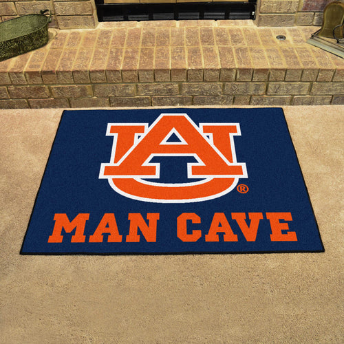 NCAA College Team Logo Man Cave ALL STAR Mat - Super Fan Cave