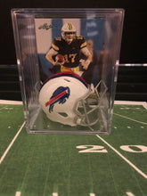 Load image into Gallery viewer, Buffalo Bills mini helmet shadowbox w/ player card - Super Fan Cave