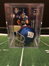 Load image into Gallery viewer, New York Giants NFL mini helmet shadowbox w/ player card - Super Fan Cave
