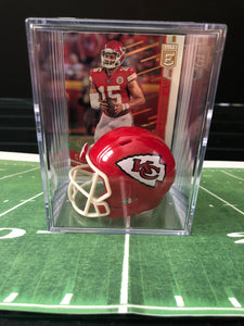 NFL All-Star Line up mini helmet shadowbox w/ player card - Super Fan Cave