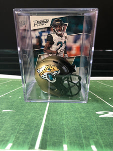 Jacksonville Jaguars NFL mini helmet shadowbox w/ player card - Super Fan Cave