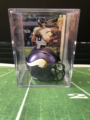 Minnesota Vikings NFL mini helmet shadowbox w/ player card - Super Fan Cave