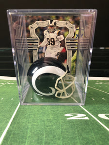 Los Angeles Rams NFL mini helmet shadowbox w/ player card - Super Fan Cave